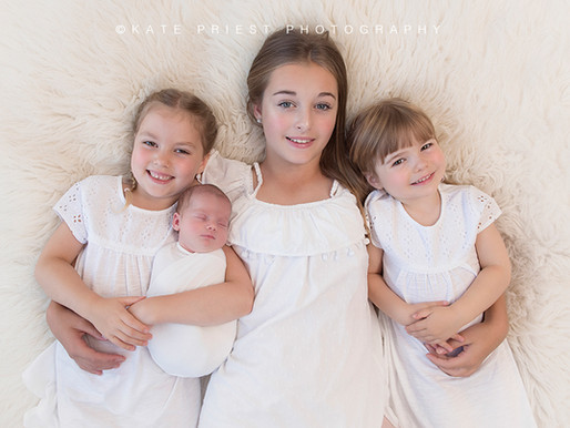 Hove Newborn Photographer - Xanthe, Lula, Dixie and Sophie