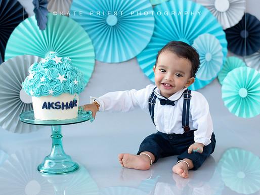 Brighton Cake Smash - Akshar 1st Birthday