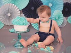 Baby boy cake smash photography