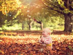 baby autumn photography photoshoot
