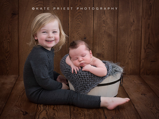 Worthing Newborn Baby Photographer. Lochlan and Rudy's Newborn and Sibling Photoshoot