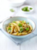 pesto pasta with basil