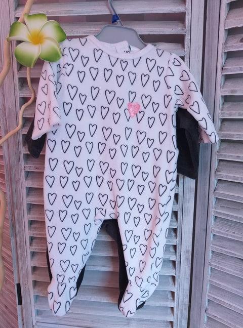 Lot de 2 pyjama fille 3 mois neuf