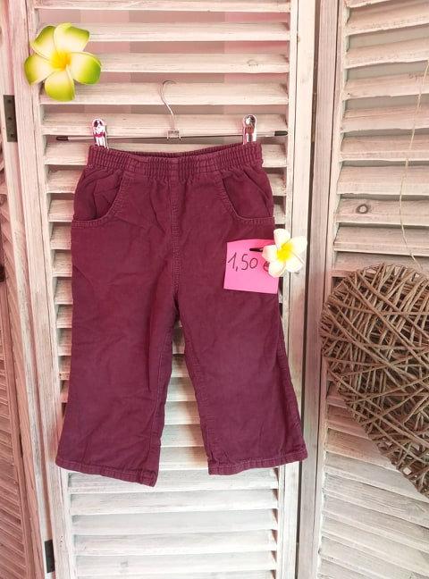 Pantalon en velours ras 2 ans