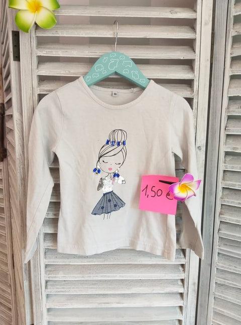 Tee-shirt manche longue fille 4 ans