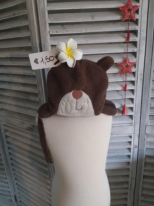 Bonnet ours bébé 45 cm