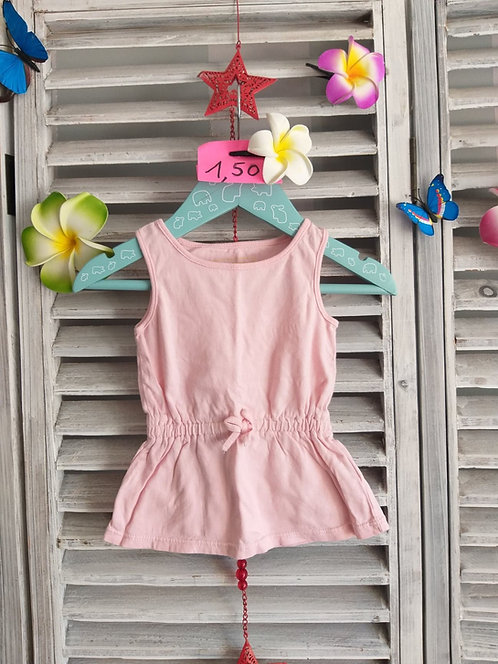 Robe simple Rose 6 mois