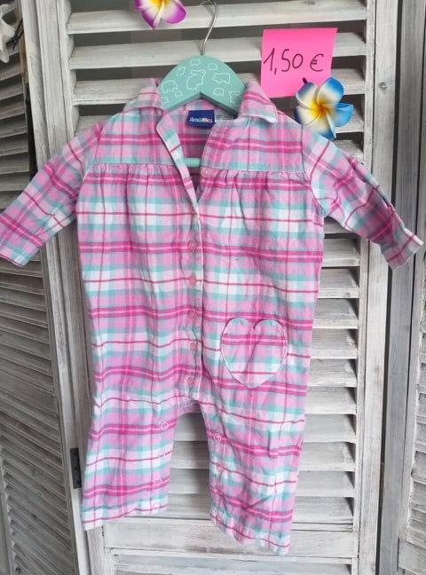 Pyjama sans pied 0/2 mois