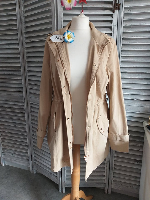 Trench Coat Court Patruce Breal T40/42