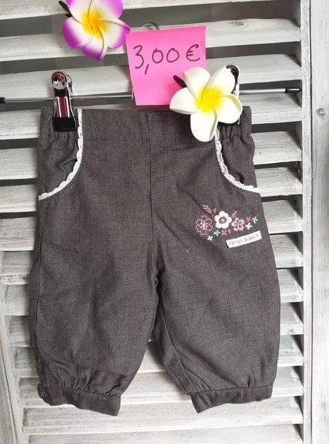 Pantalon 3 mois p'tit bisous