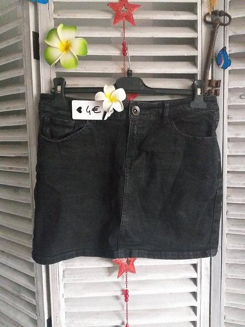 Jupe en jeans noir T38
