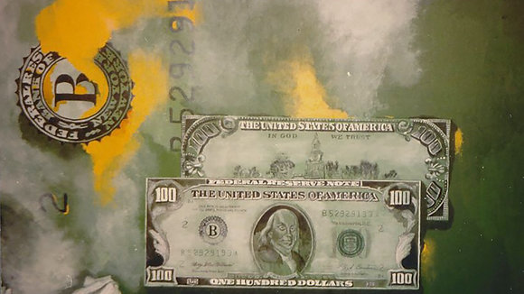 Dollarbild Franklin+White House