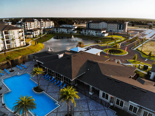 Aerial Photo With Pool