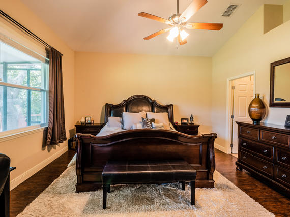 Beautiful Master Bedroom Real Estate Photo