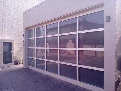 glass garage tinted windows