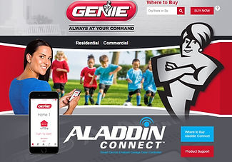 Aladdin Garage Door App by Genie