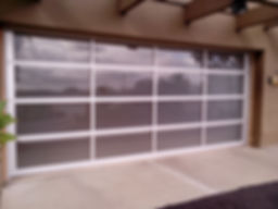 glass garage clear windows