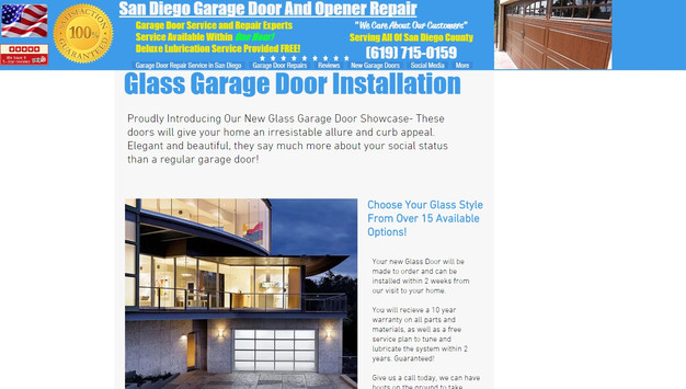 We Install Glass Garage Doors