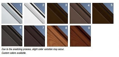 Frame Options for New Glass Garage Door