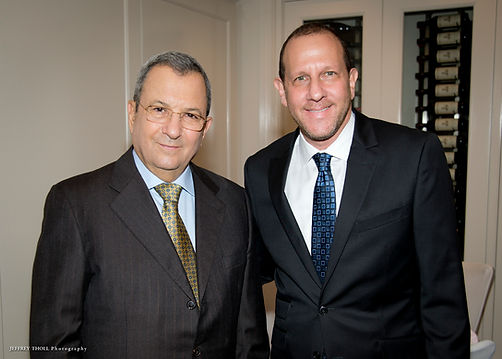 Andy Rose with former Israeli Prime Minister Ehud Barak