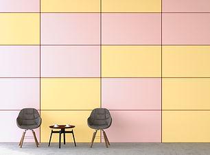 色付きの壁