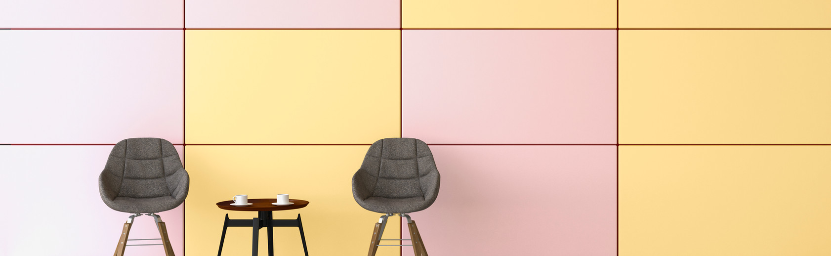 Farbige Wand