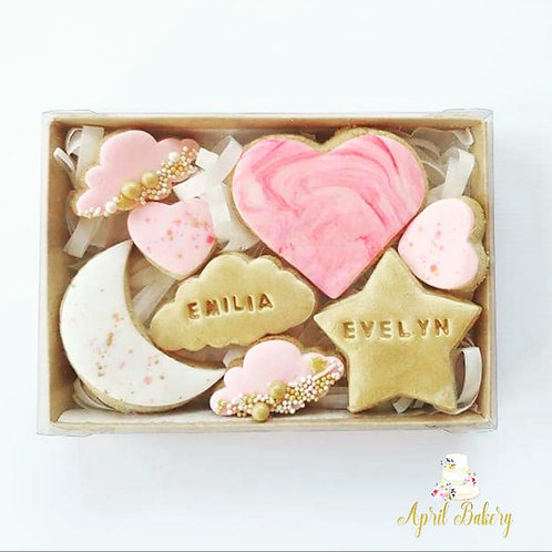 New Baby Iced Biscuit Gift Box