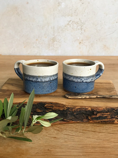 Pair of Espresso Cups - Sea Foam