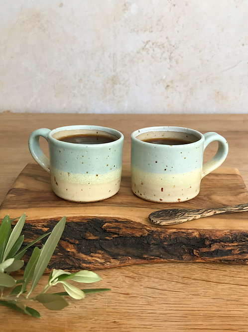 Pair of Espresso Cups - Speckled Beach