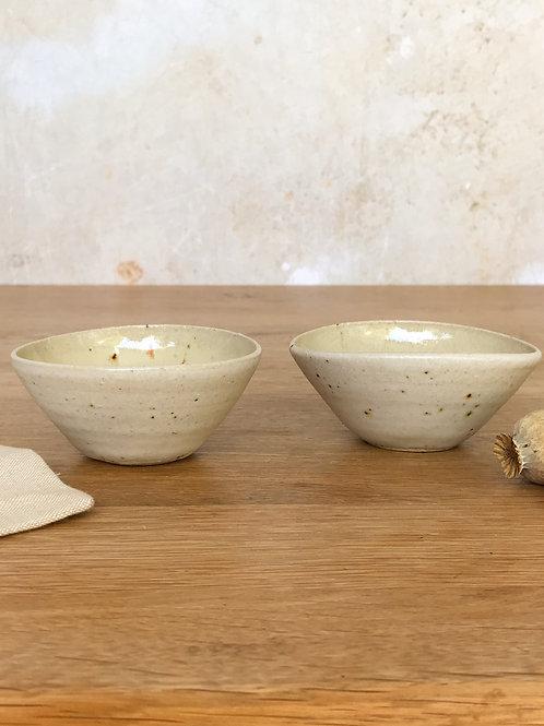 Pair of Salt Bowls - Sand II