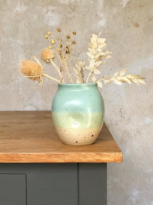 Speckled Beach Distorted Bud Vase