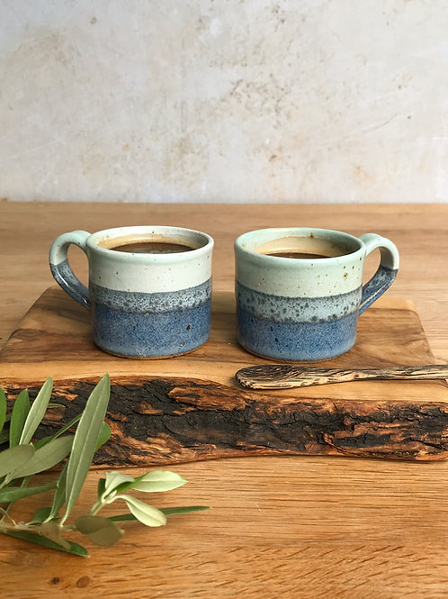 Pair of Espresso Cups - Ocean Spray