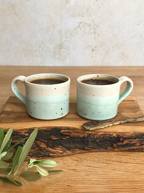 Pair of Espresso Cups - Calm Waters