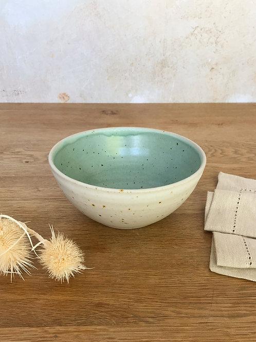 Duck Egg and Oatmeal Breakfast Bowl