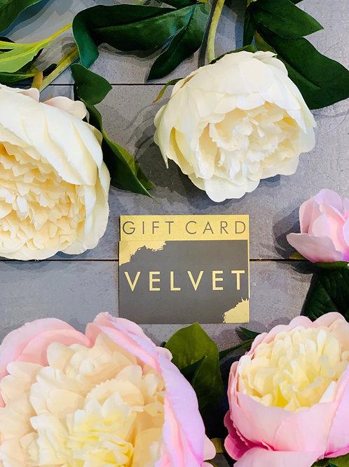 £100 VELVET GIFT CARD