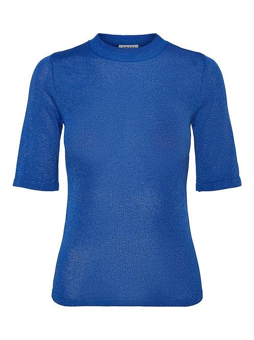 BLUE GLITTER TOP