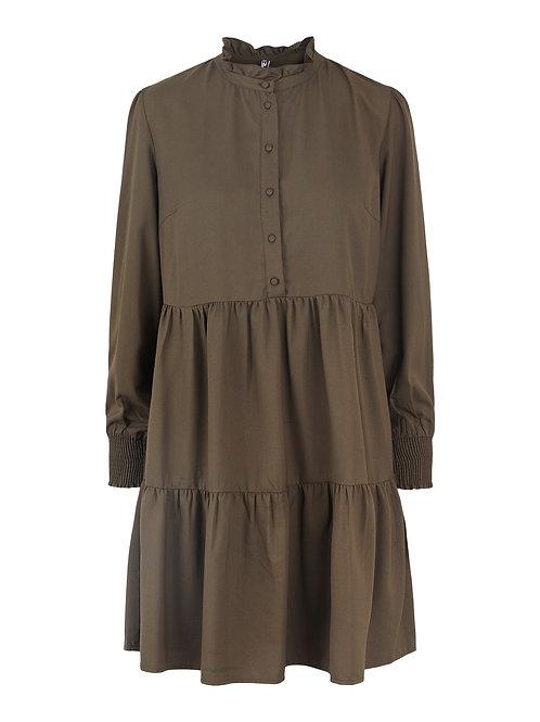 KHAKI TIER DRESS