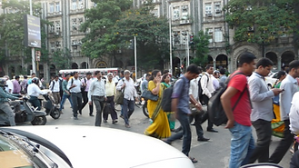 Workers near CST station