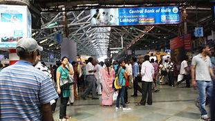 CST Station suberb train platform