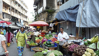 Vegetable market near Grant Road Mumbai