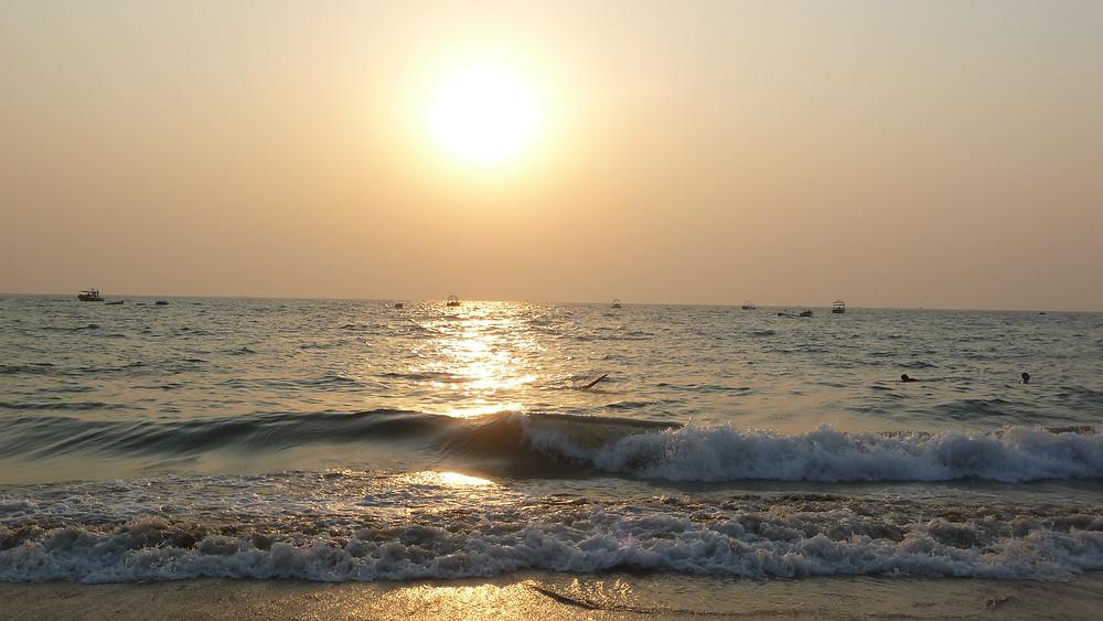 Sunset at Candolim Beach