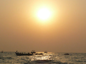 ... and, Sunset at Candolim Beach, Goa