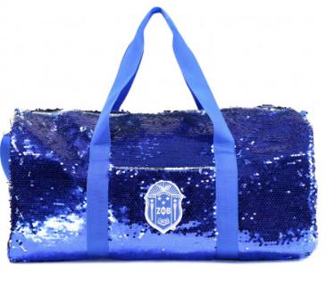 Zeta Phi Beta Sequin Duffle Bag
