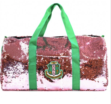 Alpha Kappa Alpha Sequin Duffle Bag