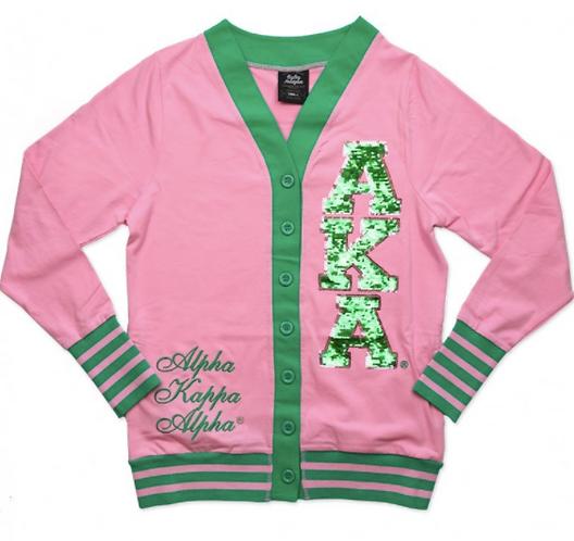 Alpha Kappa Alpha Sequin Patch Cardigan