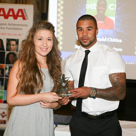 Charlotte receiving AAA 4 Success Rendall Munroe Award - Copy.jpg