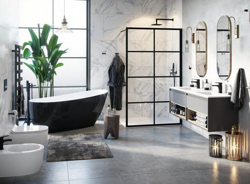 Чорний колір у ванній кімнаті