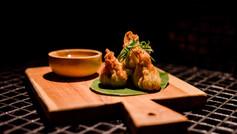 Thai chicken wontons