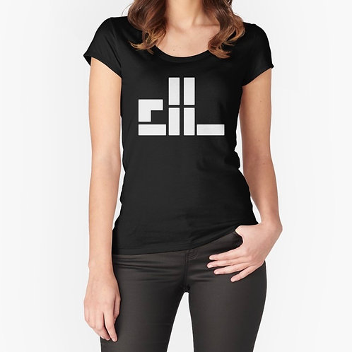 """""""dl logo"""" Women's Fitted Scoop T-Shirt"""