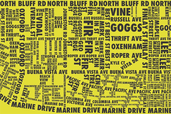 Verve Map Yellow